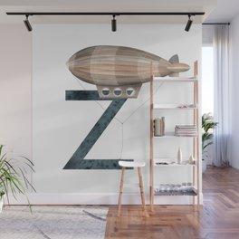 Z is for Zeppelin - Letter Z Monogram Wall Mural