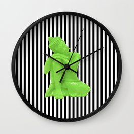 My  inner Green Buddha   Namaste Pop Art Buddha Wall Clock