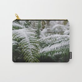 Fern Forest Winter Pacific Northwest Snow III - Nature Photography Carry-All Pouch