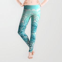 Mandala : Aqua Sunset Waters Leggings