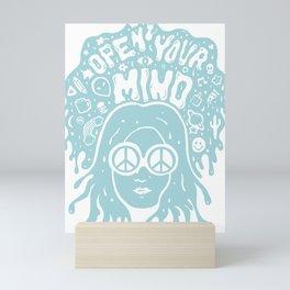 Open Your Mind in Mint Mini Art Print