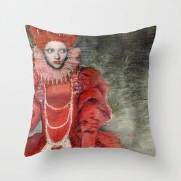 Queen Elisabeth/Newspaper Serie Throw Pillow