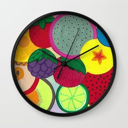 Fruity Circular Slices Wall Clock