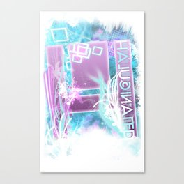 Halucinated H Crazy Chill Canvas Print