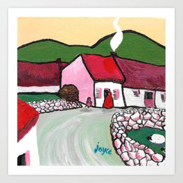 The West of Ireland - Getting the turf Art Print