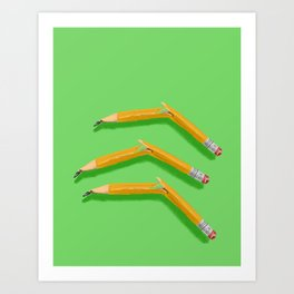Broken Pencils Art Print