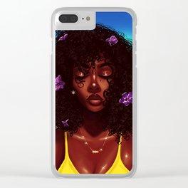 Purple X Melanin Clear iPhone Case