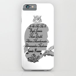 All the names of Jamie Fraser (Outlander) iPhone Case
