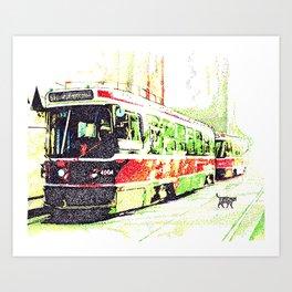 501 Street car Art Print