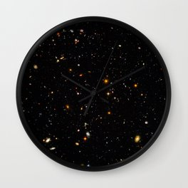 Beautiful Universe Ultraviolet Deepfield Galaxy Universe Star Map Wall Clock