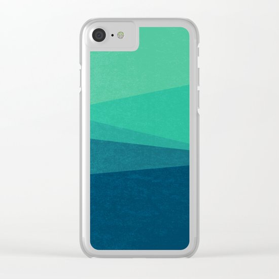 Stripe VIII Minty Clear iPhone Case