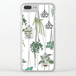 hanging pots pattern Clear iPhone Case