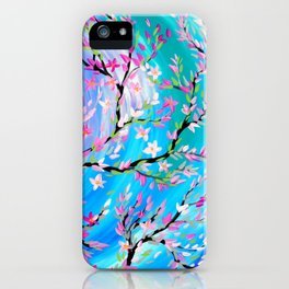 Butterflies with aqua, blue, green and purple iPhone Case