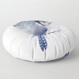 Blue Jay Floor Pillow