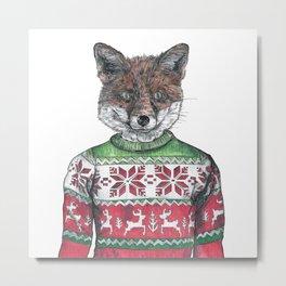 Fantastic Mr Fox (in a smashing christmas jumper) Metal Print