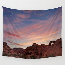 Arch Rock Sunset, Valley of Fire - I Wall Tapestry