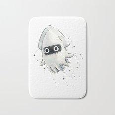 Blooper Squid Mario Watercolor Geek Art Bath Mat