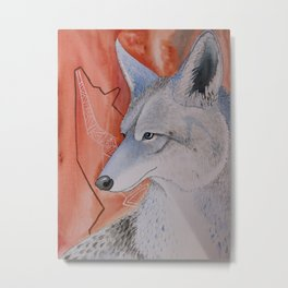 Coyote Blue Metal Print
