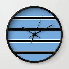 Abstraction from the flag of bostwana-kalahari,gaborone,batswana,motswana,tswana,kalanga Wall Clock
