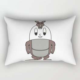 Kangaroo Egg Rectangular Pillow