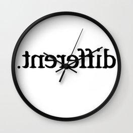 Im Different T-Shirt Wall Clock