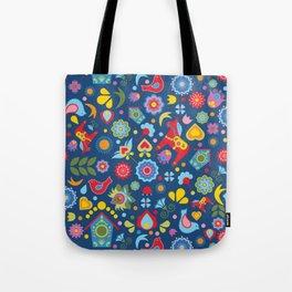 Swedish Folk Art Garden Tote Bag