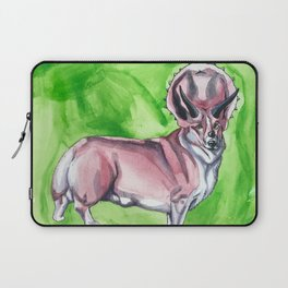 Triceratops Corgi Laptop Sleeve
