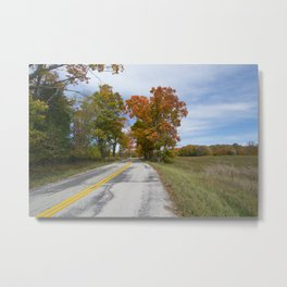 Ahnapee Fall Foliage Metal Print