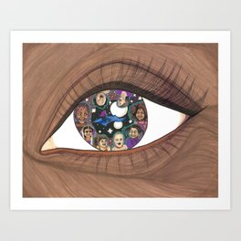 Magic in Her Eyes Art Print