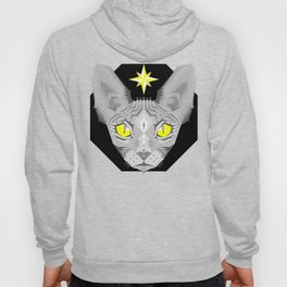Sphynx Cat Black Pattern Hoody