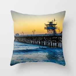 Pier at Days End Throw Pillow