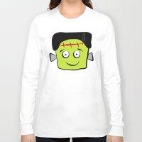 frankenstein Long Sleeve T-shirts featuring Frankenstein by Jessica Slater Design & Illustration