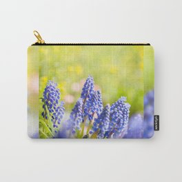 Blue Muscari Mill clump of grapes Carry-All Pouch