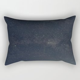 Starry night over the trees Rectangular Pillow