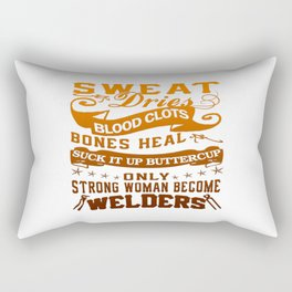 Welder Woman Rectangular Pillow