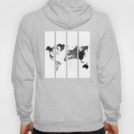 World map in pieces Hoody