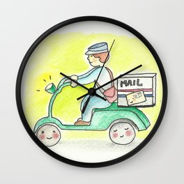 Waiting for Mr Postman Wall Clock