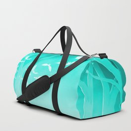 Dark Forest at Dawn in Aqua Duffle Bag