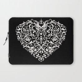 Intricate Heart- Monochrome inversed Laptop Sleeve