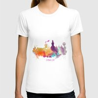 poland T-shirts featuring Cracow Poland skyline by jbjart
