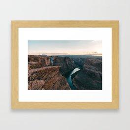 Horseshoe Bend Sunset Framed Art Print