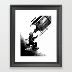 Who's Looking at Who? Framed Art Print