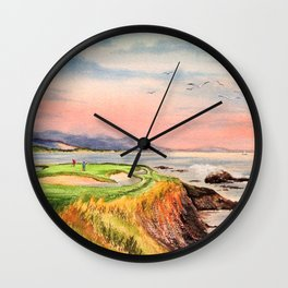 Pebble Beach Golf Course Hole 7 Wall Clock