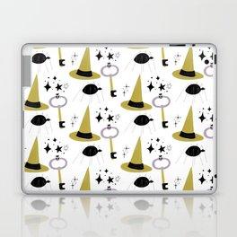 Happy haloween hats, keys, spiders and stars Laptop & iPad Skin