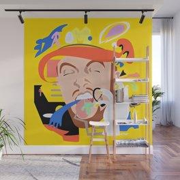MAC MILLER---Face Art Wall Mural