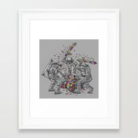 police Framed Art Prints featuring Police Brutality by Peter Kramar