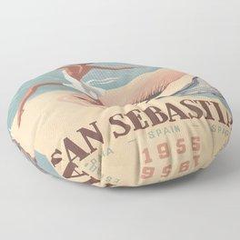 Vintage poster - San Sebastian Floor Pillow