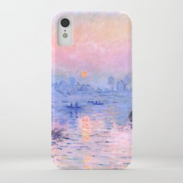 "Claude Monet ""Sunset on the Seine at Lavacourt. Winter Effect"" iPhone Case"