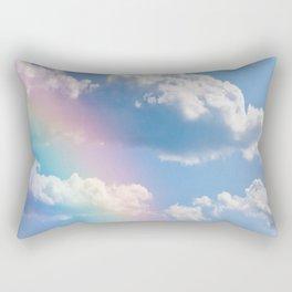 Sunny Rainbow Sky Dream Rectangular Pillow