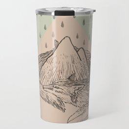 Wolf Chase Mountain Travel Mug